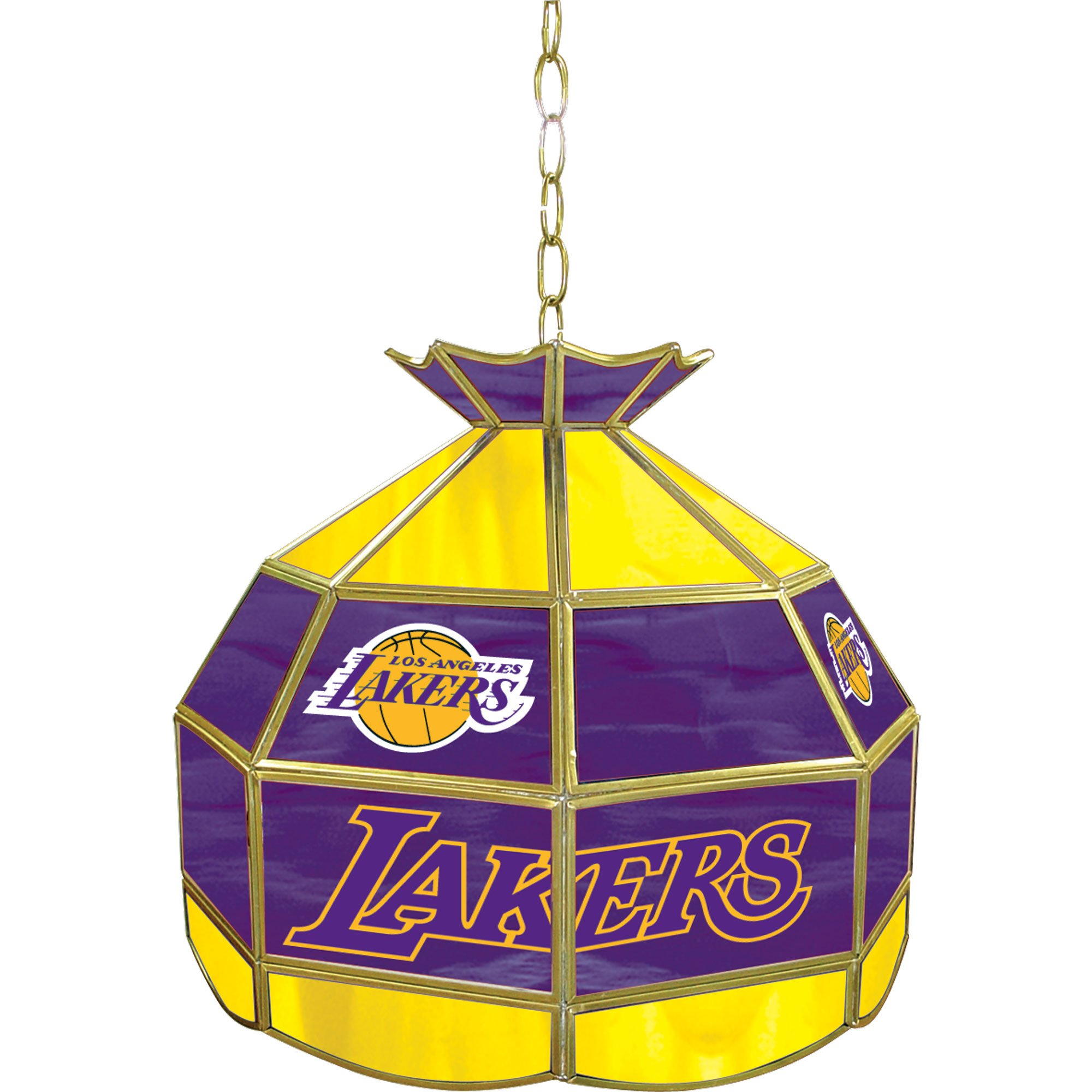 NBA Los Angeles Lakers Tiffany Gameroom Lamp, 16'' by Trademark Gameroom