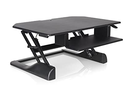 ergotech freedom desk height adjustable standing desk 36 wide black - Height Adjustable Standing Desk