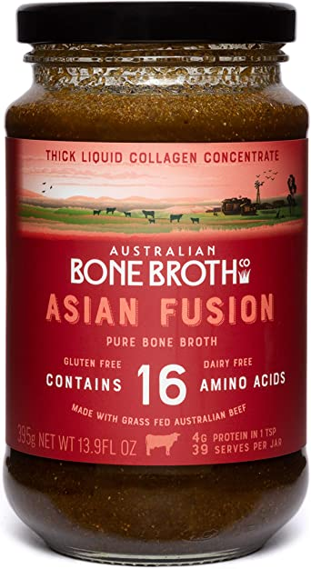 Concentrado de Caldo de Hueso de Carne de Ternera Australiana - Fusión Asiática -Fuente de alimento de proteína de colágeno en una Bebida Picante ...