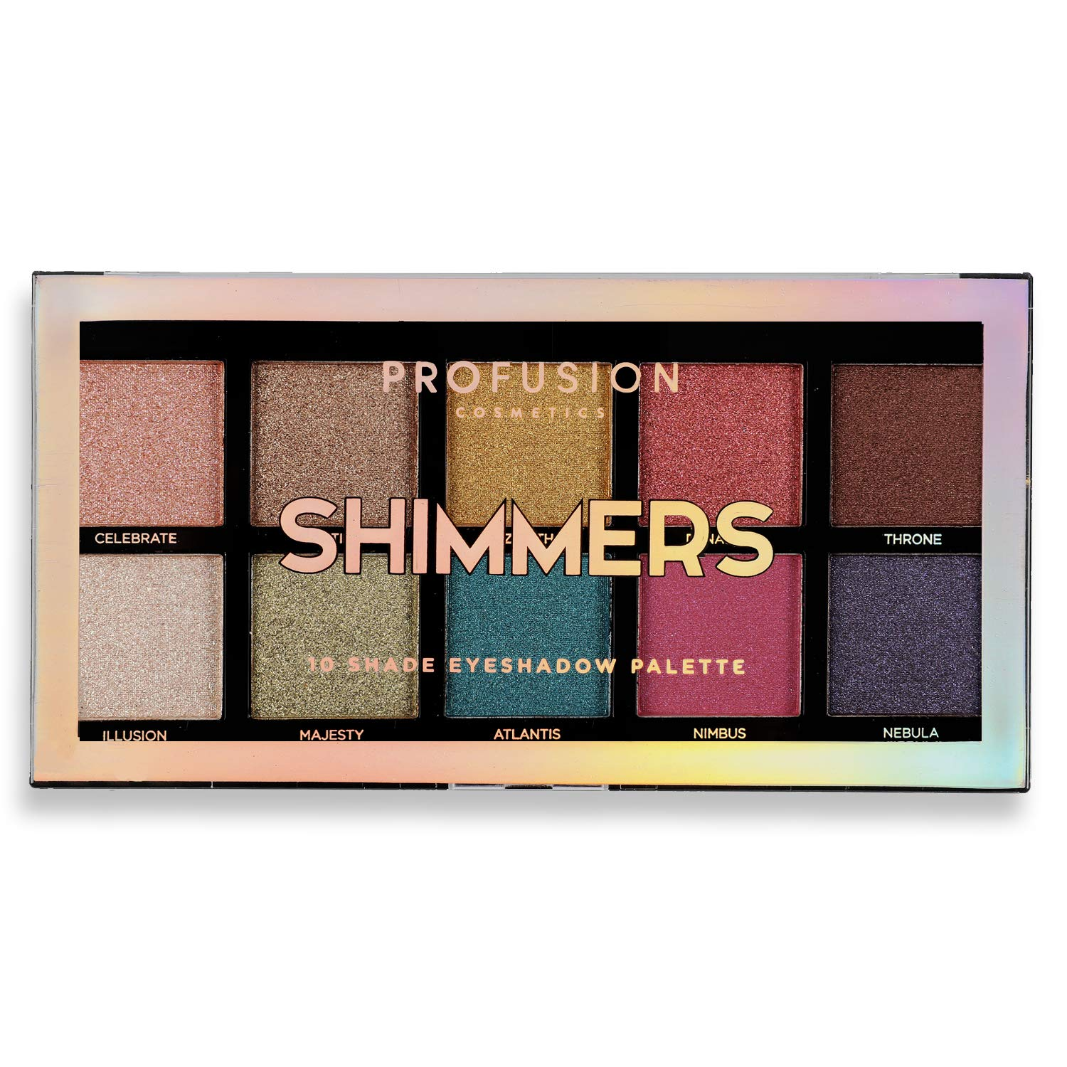 Profusion Cosmetics - 10 Shade Eyeshadow Palette Collection, Shimmer