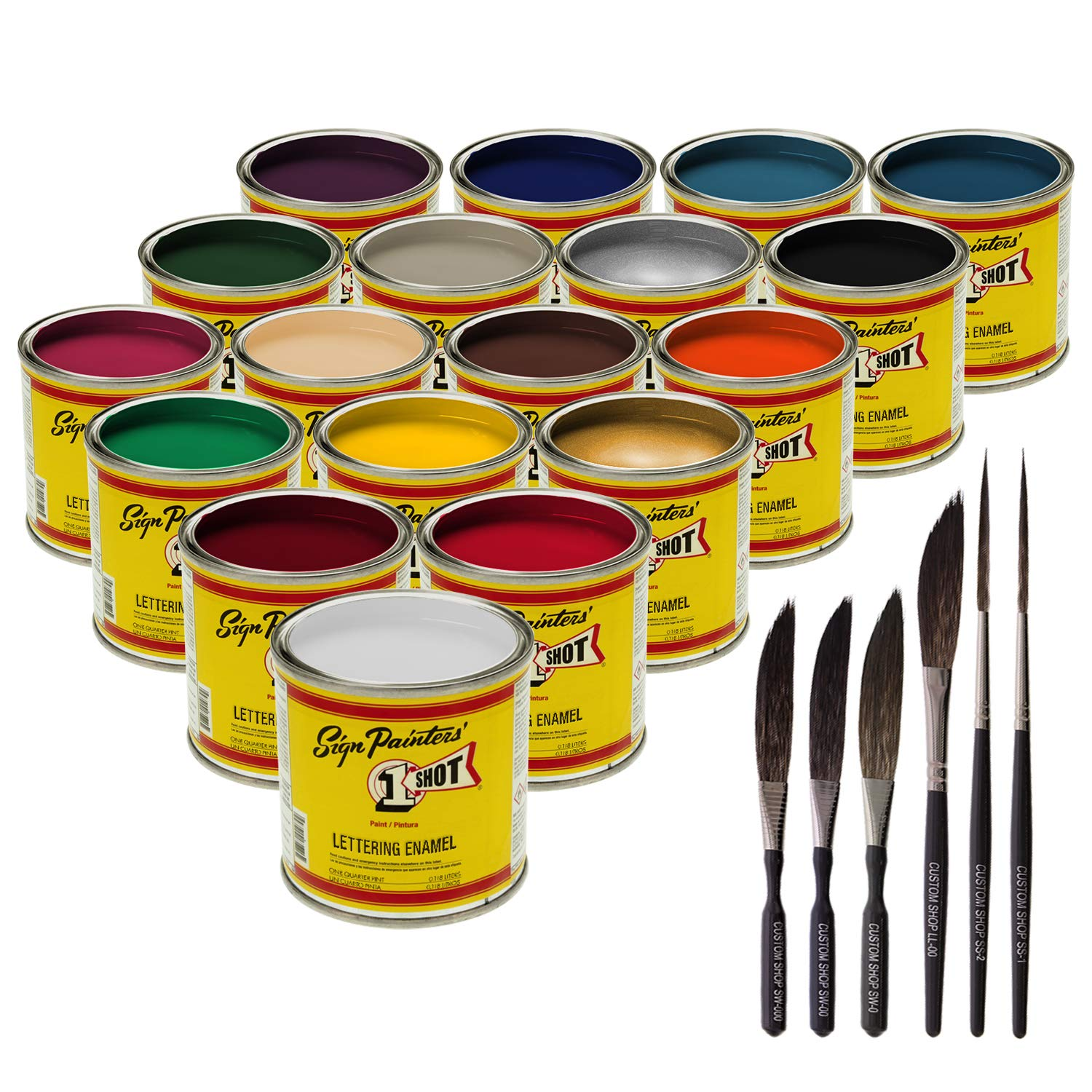 One-Shot 1 LETTERING/PINSTRIPE/STRIPING PAINT 18 COLORS