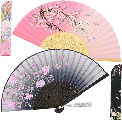 Chinese Folding Bamboo Fan Retro Hand Paper Fans Wedding Dancing Decor .