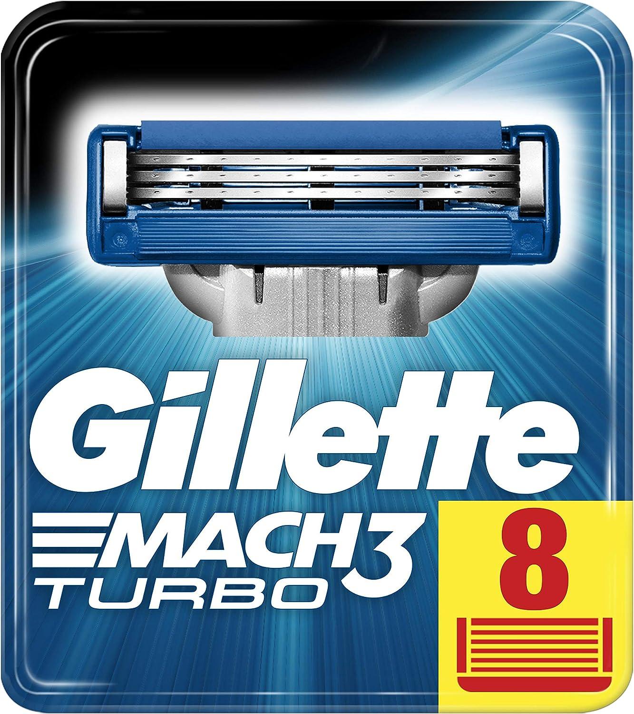 Gillette Mach3 Turbo Cuchillas de afeitar para hombres, 1er Pack ...