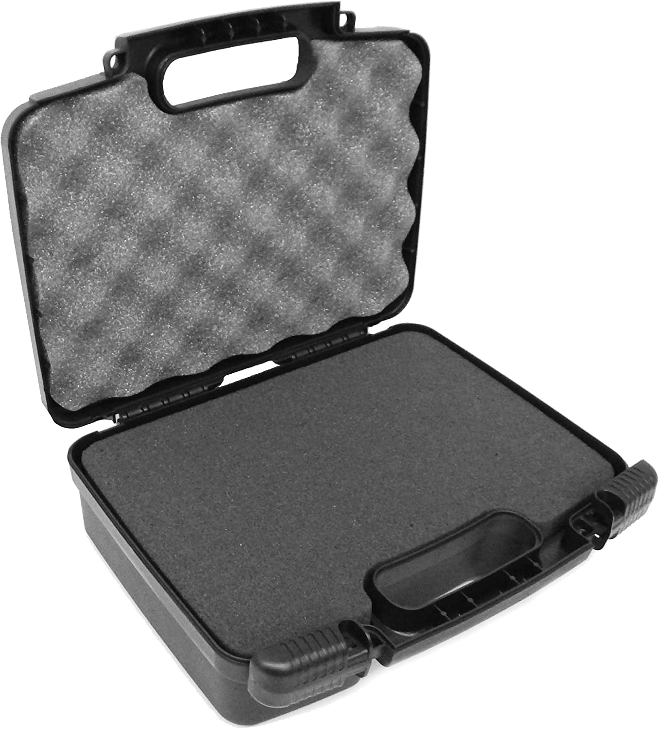 CASEMATIX Portable Projector Hard Case with Foam - Customizable Foam Fits Sony Pico Mobile Projector MPCL1, MPCD1, MP CD1, MP CL1A and More Small Electronics & Accessories - Premium Custom Padded Case