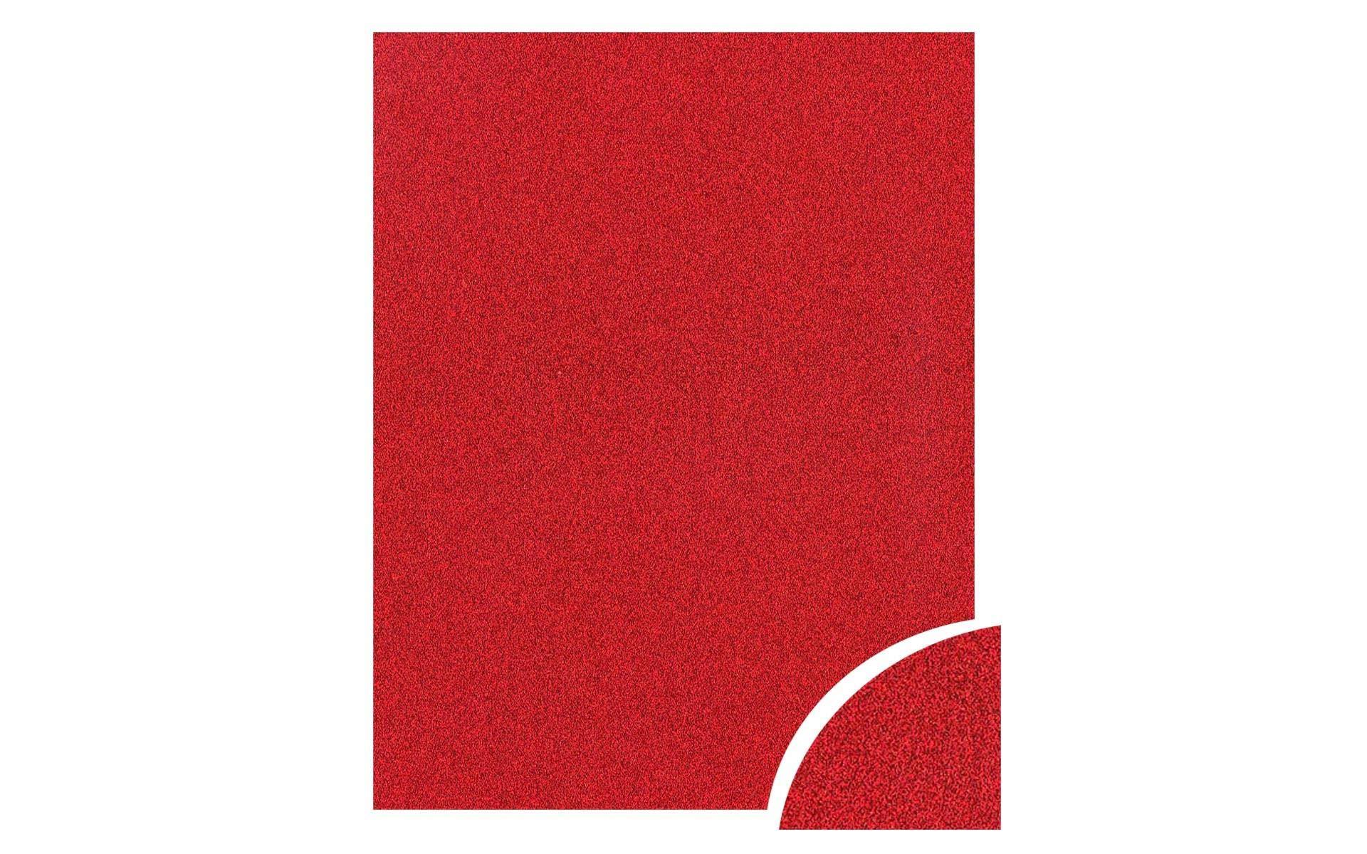 Paper Accents Cdstk Glitter 22x28 85lb Red UPC