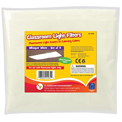 educational insights 1231 classroom light filters-whisper, white ...