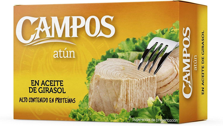 Campos, Conserva de atún en aceite de girasol - lata oval de 111 gr/ 120 ml