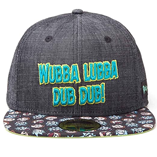63265287993 Image Unavailable. Image not available for. Color  RICK AND MORTY Baseball  Cap Wubba Lubba Dub ...