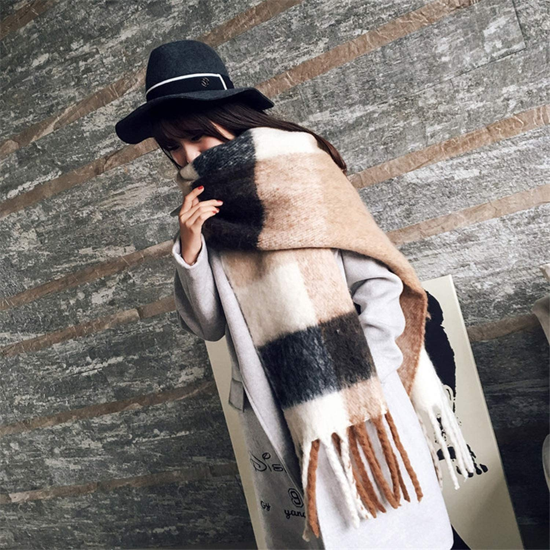 Fashion Cashmere Women Plaid Scarf Winter Warm Shawl And Wrap Bandana Pashmina Long Tassel Female Foulard Thick Blanket