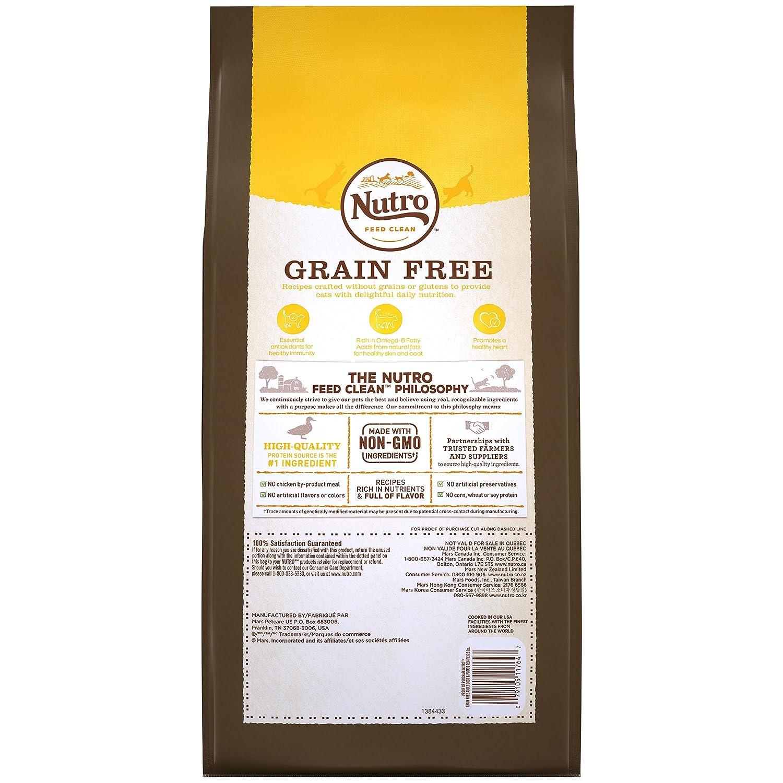 Amazon.com : Nutro Grain-Free Duck & Potato Recipe Adult Dry Cat Food 6.5 Pounds : Pet Supplies