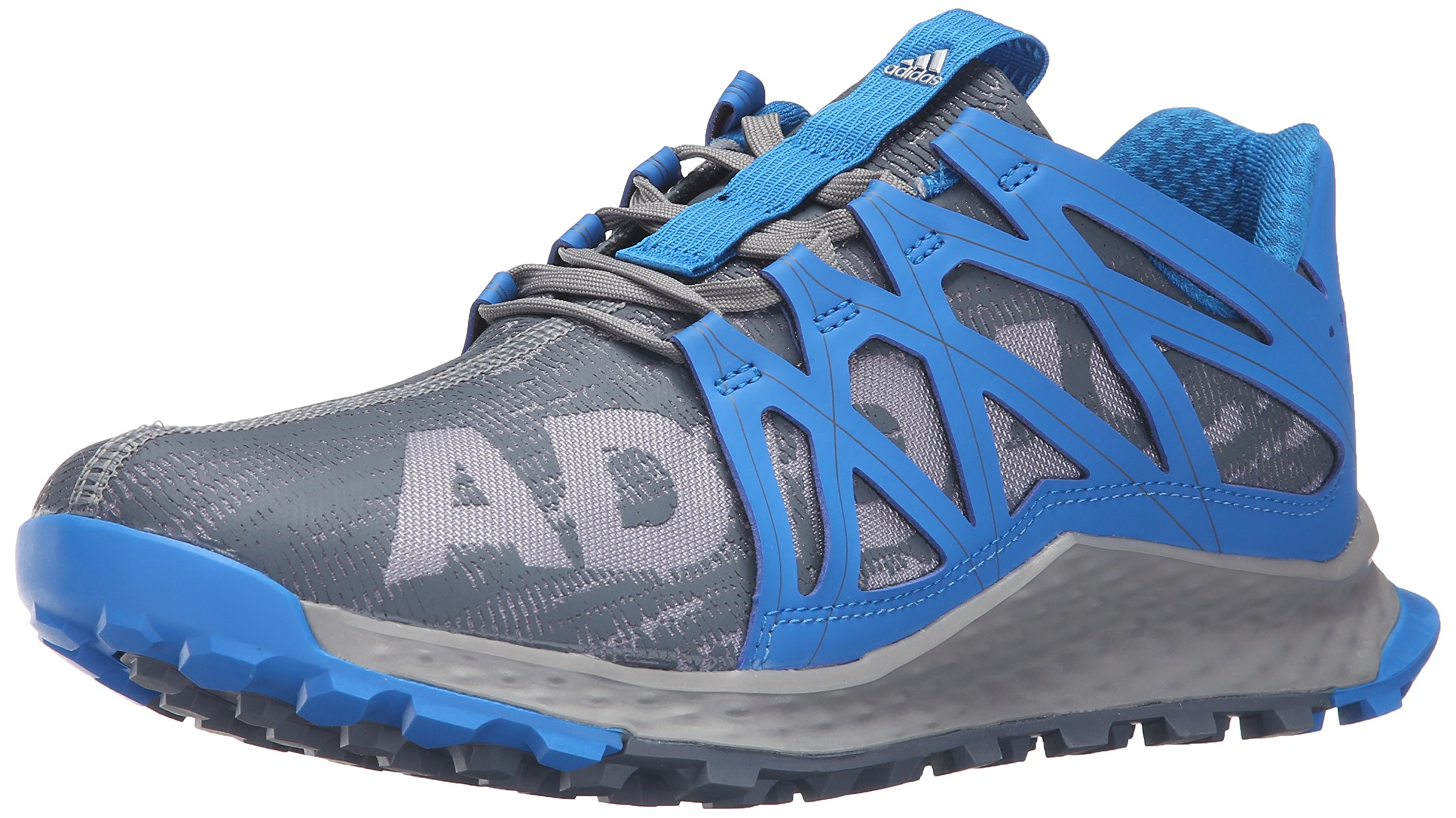 aef4393d8 Galleon - Adidas Men's Vigor Bounce M Trail Runner, Grey/Onix/Shock Blue,  10 M US