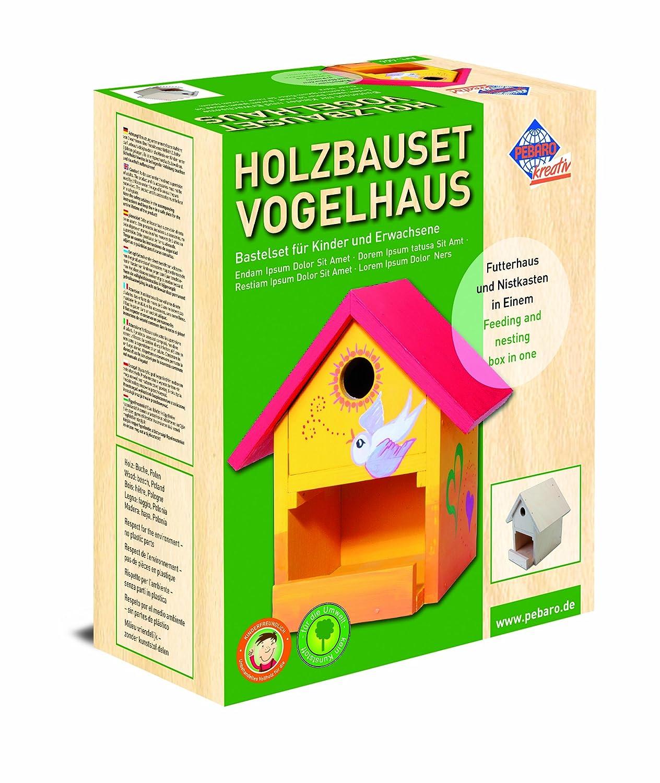 Echtes Werkzeug für Kinder - Echtes Kinderwerkzeug - Bausatz Kinder - Pebaro Vogelhaus Bausatz