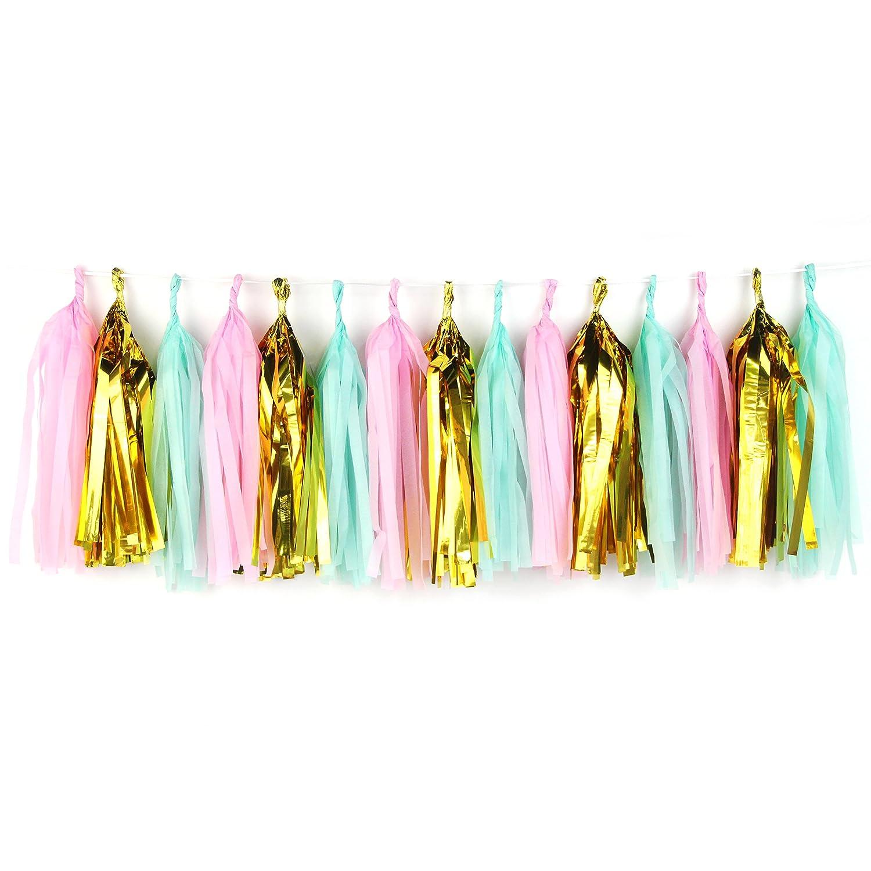 Amazon.de: SUNBEAUTY 15er Set DIY Tassels Viele Farben Girlande ...