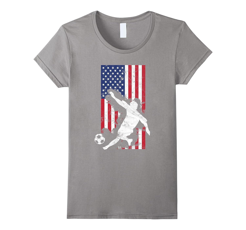 American Flag USA Soccer Player Team T-Shirt