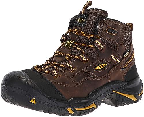 Keen Utility - Botas de Trabajo para Hombre Braddock All Leather Mid  Impermeable (Puntera de bf9ca8002ea