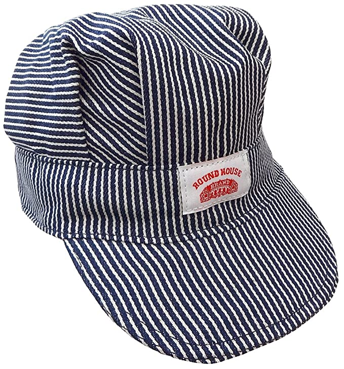 Round House Train Conductor Hickory Striped Engineer Hat - Adult - Made in  USA (STRIPE ADLT) at Amazon Men s Clothing store  Railroad Engineer Hat 4edb87857693