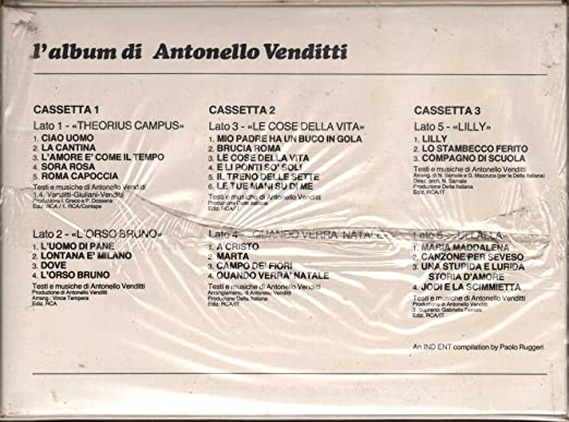 Regali Di Natale Antonello Venditti Testo.L Album Di Antonello Venditti Antonello Venditti Amazon It Musica