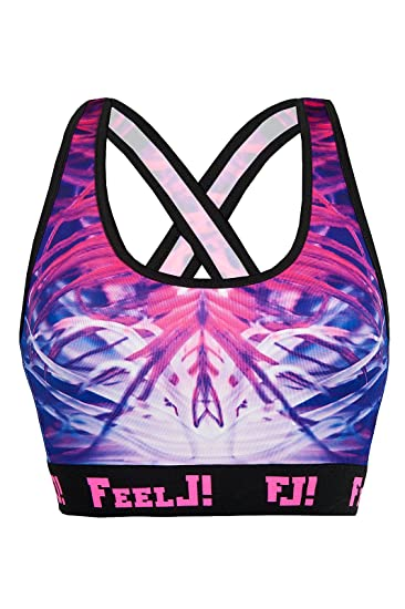 028168d31bfbb6 Feel Joy Frauen 'S ELECTRIC Sport-BH M Mehrfarbig: Amazon.de: Sport ...