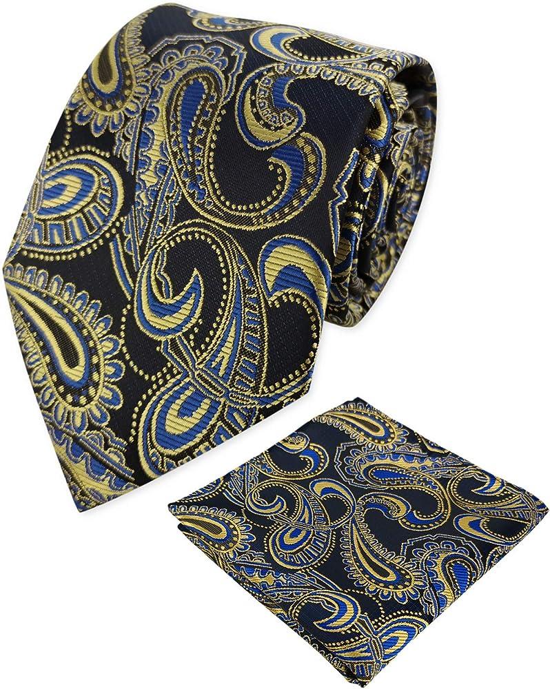 KOOELLE - Corbata clásica de cachemira para hombre con pañuelos ...