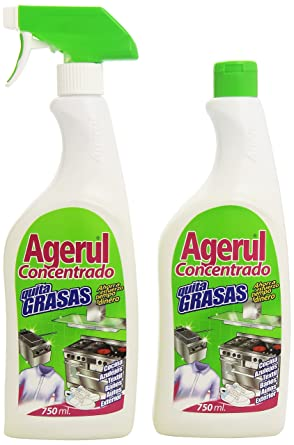 Agerul - Concentrado Quitagrasas - Botella de 750 ml + recambio de 750 ml - 1500