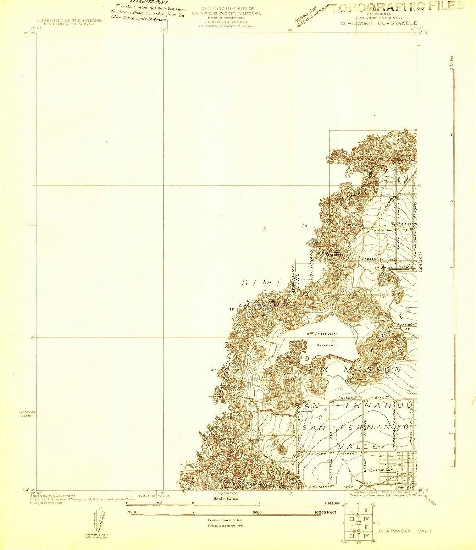 Chatsworth California Map on