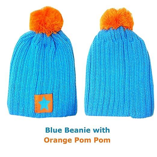 93990e999672 Amazon.com  Child Kids Girl Boy Pom Pom Knitted Star Beanie Hat 3 yr ...