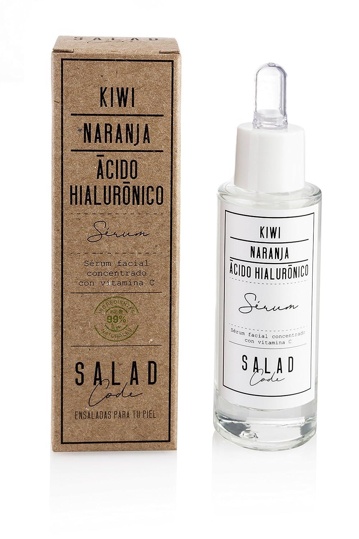 Sérum facial concentrado con vitamina C y ácido hialurónico. Cosmética natural ecologica. Proporciona elasticidad e ilumina la piel. Cosmética vegana.