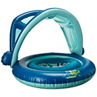SwimSchool 2-in-1 Swim System, BabyBoat and Deluxe TOT Trainer, Adjustable Safety Strap, Blue