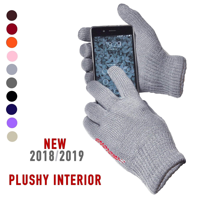 Guanti Touch Screen Capacitivi Per Smartphone - Universali Unisex - Rosso Scuro Bordeaux Granata Axelens 8058669303248
