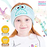 Snuggly Rascals (v2) Kids Headband Headphones - Ultra-Comfortable, Volume Limited and Size Adjustable. (Fleece, Owl)