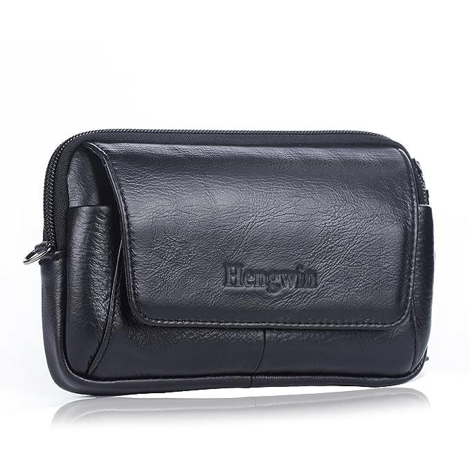 d433641c2a Hwin Belt Holster Pouch Crossbody Phone Bag Small Travel Shoulder Bag Men s  Cell Phone Purse Messenger