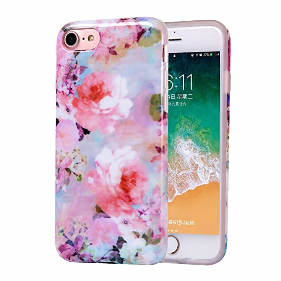 promo code 1a45b 167df iPhone 6 Case for Girls, iPhone 6s Case, Women Best Protective Cute Slim  Pink Shockproof Glossy Soft Flexible Clear Rubber TPU Silicone Cover Phone  ...