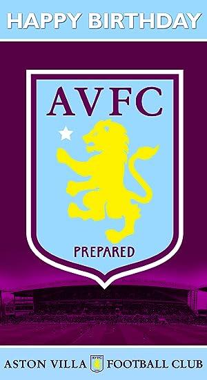 ASTON VILLA AV001 Aston Villa Crest Birthday Card