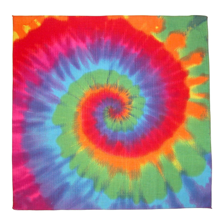 Multi-Color CTM/® Rainbow Tie Dye Bandana