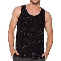 Veirdo Men's Sleeveless Cotton T-Shirt - Multicolor