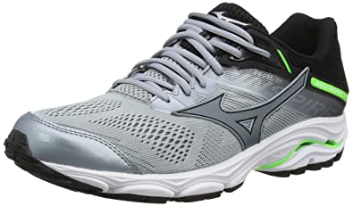 67b8d466d373 Mizuno Men's Wave Inspire 15 Running Shoes, Grey (Quarry/Stormy Weather/ Green