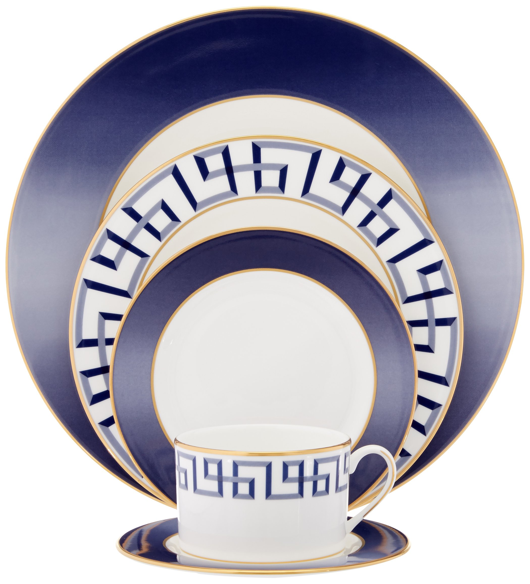 Lenox Gluckstein Darius Gold 5-Piece Place Set - Crafted of Lenox bone china accented with platinum Dishwasher safe Under license by Brian Gluckstein, who has reviewed this product for quality and authenticity - kitchen-tabletop, kitchen-dining-room, dinnerware-sets - 81V0rq3B3QL -