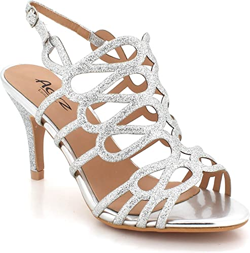 Womens Crystal Rhinestones Chunky Heels Evening Dress Sandals Party Bridal Shoes