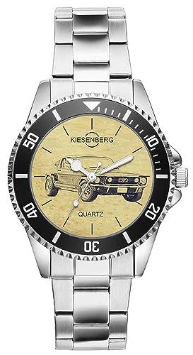 Regalo para Ford Mustang 1967 Oldtimer Conductores Fans Grava Montaña Reloj 6445: Amazon.es: Relojes