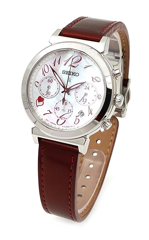 Seiko lukia Valentinstag Limited Edition Damen Saphir Chronograph Rot srw857p1