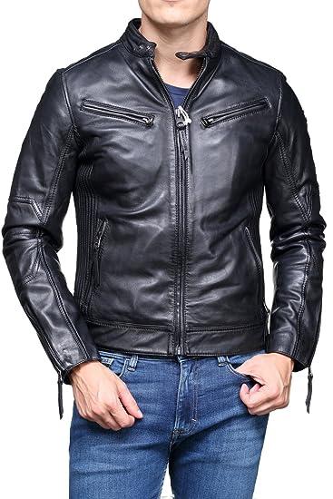 5037726c5 Redskins Leather Jacket Lynch Audition V3 Black: Amazon.co.uk: Clothing