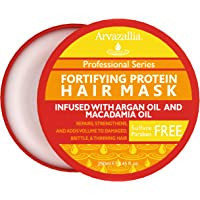 Fortifying Protein Hair Mask and Deep Conditioner with Argan Oil and Macadamia Oil By Arvazallia - Hair Repair Treatment…