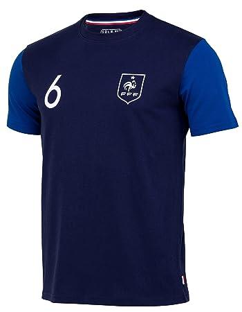 Selección de Fútbol de Francia FFF - Paul Pogba - Camiseta Oficial para Niño, Niños, Azul, 4 Años: Amazon.es: Deportes y aire libre