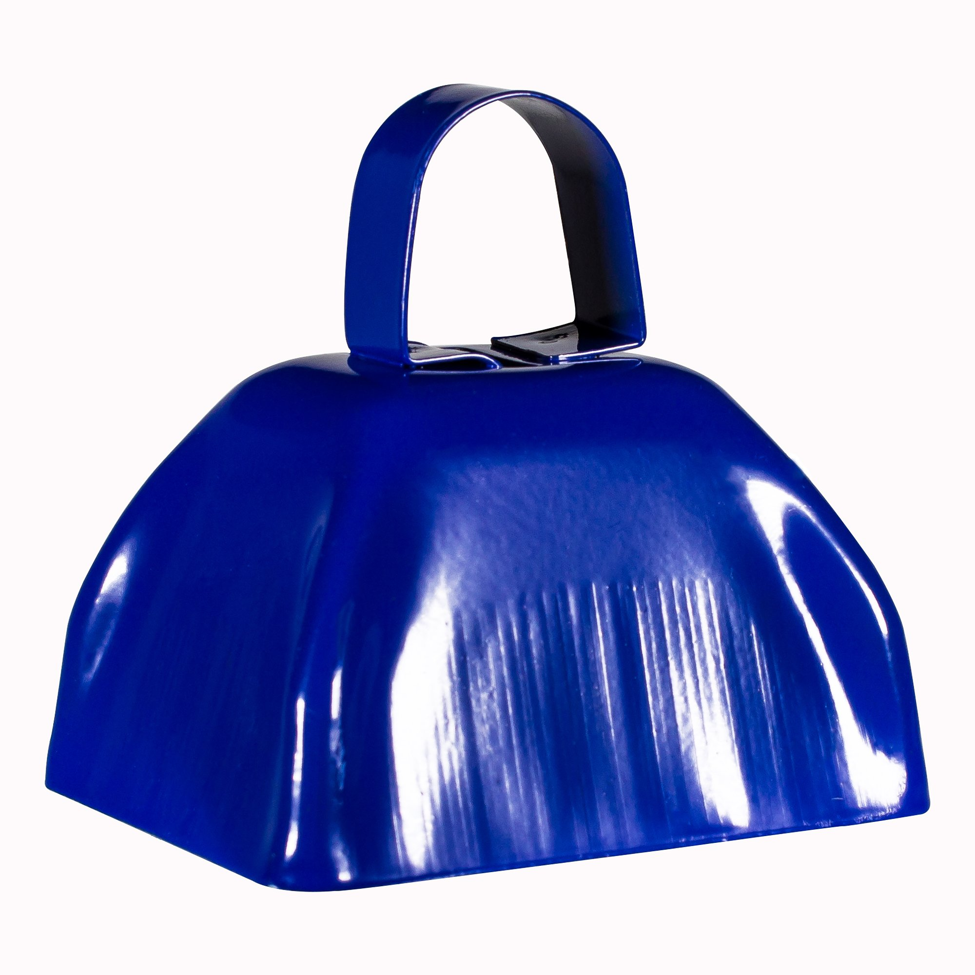 Metal Cowbells with Handles 3 inch Novelty Noise Maker - 12 Pack (Blue)