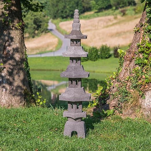 wanda collection Linterna Japonesa Pagoda de Piedra de Lava 1,30 m: Amazon.es: Hogar