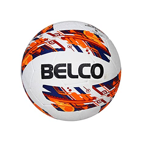 Belco Sports Red Cyclone Rubber Moulded Football Size 5 Balls