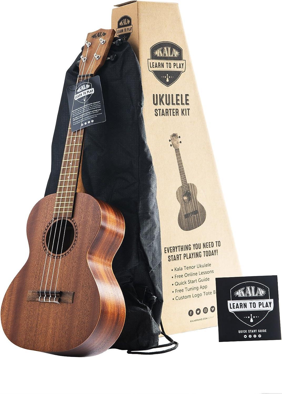 Kit de inicio oficial para aprender a tocar ukelele tenor Kala de ...