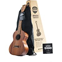 Official Kala Learn to Play Ukulele Tenor Starter Kit, Light Mahogany – Includes online lessons, tuner, and app