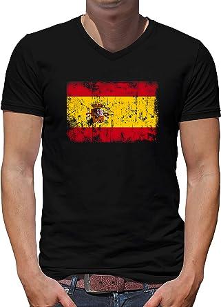 TShirt-People España Vintage Bandera Cuello V Camiseta Hombre: Amazon.es: Ropa y accesorios