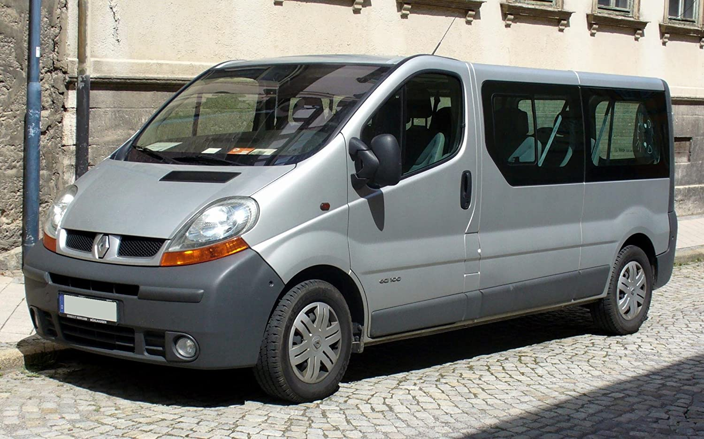 Autositzbezüge Renault Trafic II ab 14 1+1 Vordersitze Schwarz Transporter Bezug